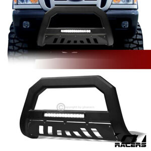 For 1998 2011 Ford Ranger Matte Blk Avt Aluminum Led Light Bull Bar Bumper Guard