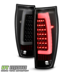 Black Smoke 2002 2006 Chevy Avalanche 1500 2500 Led Tube Tail Lights Brake Lamps