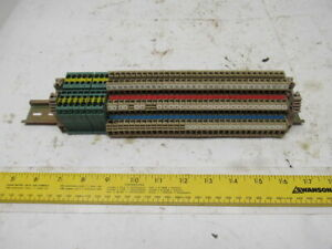 Weidmuller 32 Dld 2 5 35 Terminal Block Strip 8 Zpe4 Ground Lot Of 40