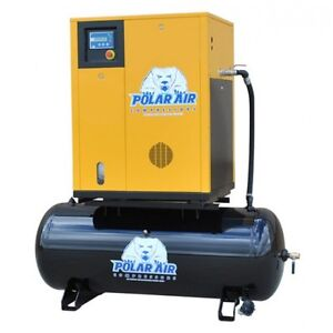 10 Hp 3 Ph Rotary Air Compressor W 120 Gallon Tank no China Parts 10 Yr Warranty