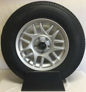 15 Inch 5 Lug Aluminum Trailer Wheel With Tire St 205 75 R15 8 Ply T15 56545sm