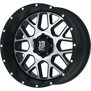 20x10 Black Machined Xd820 6x5 5 24 Rims Open Country Rt Lt295 55r20 Tires