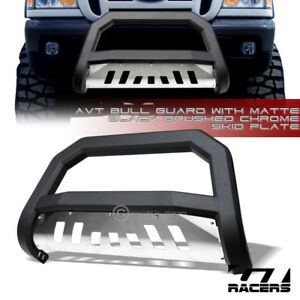 Matte Black Avt Edge Bull Bar Push Bumper Guard skid 1998 2011 Ford Ranger Truck