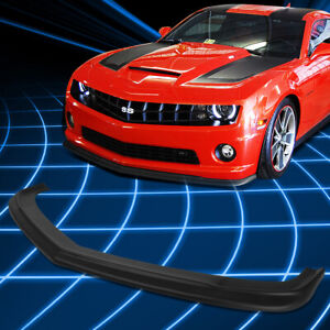 For 10 13 Chevy Camaro 1ss 2ss Ss Zl1 Style Paintable Front Bumper Lip Spoiler