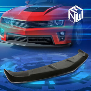 For 14 15 Chevy Camaro Ss Z28 A Style Paintable Front Bumper Lip Spoiler Wing