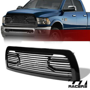For 2010 2018 Dodge Ram 2500 3500 Glossy Black Big Horn Front Hood Bumper Grille
