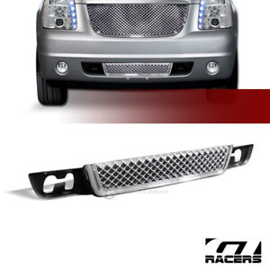 For 2007 14 Yukon Denali Xl Chrome Luxury Mesh Front Lower Bumper Grille Guard