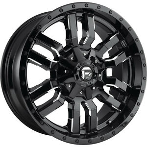 20x9 Black Milled Fuel Sledge 6x135 6x5 5 1 Rims Open Country Mt 35 Tires
