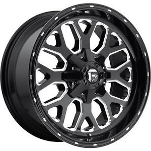 20x10 Black Fuel Titan 6x135 6x5 5 18 Rims Open Country Mt 35 Tires