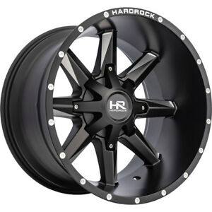 20x12 Black Hardrock Hardcore 5x5 5x5 5 44 Wheels Open Country Mt 35 Tires