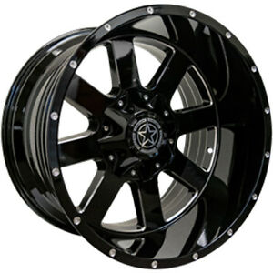 20x12 Black Milled Dw15 5x5 5x5 5 44 Rims Open Country Mt 35x12 5x20 Tires