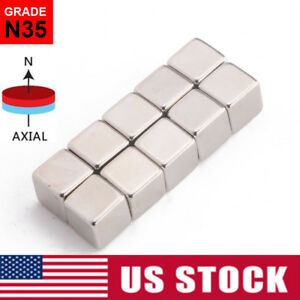 10 50pcs N35 Strong Block Square Rare Earth Neodymium Small Magnets 10x10x10mm