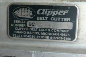 Clipper 5 Foot Belt Cutter Conveyer Belt Lacer