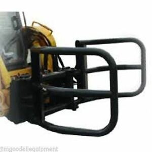 Hay Bale Squeeze Attachment For Skid Steer Loaders clamps 28 To 80 Bales