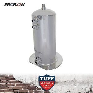 Proflow Polished 2 5lt Fuel Surge Tank With an Fittings Suit Bosch 044 2 5l An