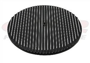 Chevy Ford Mopar Aluminum 14 Round Air Cleaner Top Polished Finned Black