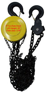 5 Ton 3 8 Chain Hoist Puller Lift Winch Load Block Pulley Come Along