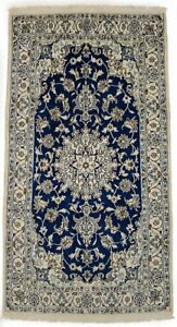 Charming Unique Classic Hand Knotted Blue Persian Area Rug Oriental Carpet 4x7