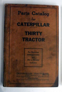 30 Thirty Tractor Caterpillar Parts Catalog S4683 To S10536 Ps1 ps14292 Inclusi