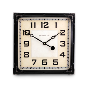 Gas Station Wall Clock Black Automobile Service Station 1930 s Vintage Indu