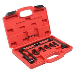 10 Pcs Valve Spring Compressor Kit 5 Adaptors Pusher Tool Black Brand New