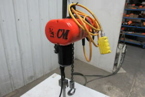 Cm Lodestar Model B 1 4 Ton 1 4hp Electric Chain Hoist 230 460v 15 Lift 16fpm