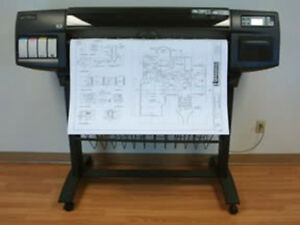 Hp Designjet 1050c 36 Inkjet Cad Printer Plotter With 3 Year Warranty
