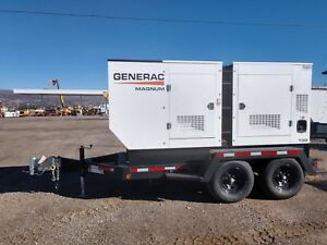 2017 Generac Mmg130d Diesel Generator With 10 Amp Battery Charger