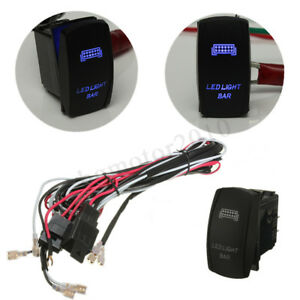 Led Light Bar Rocker Switch On Off 40a Relay Wiring Harness Kit For Atv Jeep Suv