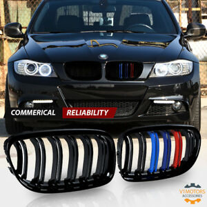 Gloss Black M Color Front Kidney Grille Grill For Bmw E90 Lci 3 Series 2009 2011