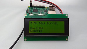 Spi I2c Uart 20x4 Lcd Black Text Yellow Background