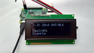 Spi I2c Uart 20x4 Lcd White Text Black Background