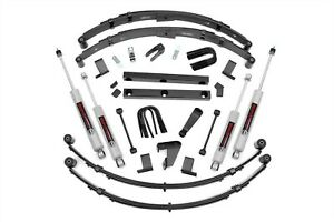 Rough Country 4 Lift Kit 87 95 Jeep Yj Wrangler W Manual Steering 620mn2
