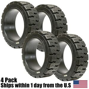 4pk 18x6x12 1 8 Solid Puncture Proof Press on Traction Forklift Tire 18612