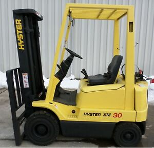 Hyster Model H30xm 2003 3000 Lbs Capacity Great Pneumatic Tire Forklift