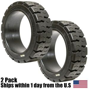 2pk 18x8x12 125 Solid Puncture Proof Press on Traction Forklift Tire 18812