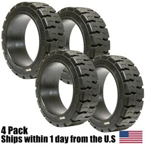 4pk 18x8x12 125 Solid Puncture Proof Press on Traction Forklift Tire 18812