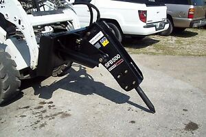 Skid Steer mini Excavator hydraulic Hammer Breaker 680 Lbs Impact W quick Hitch