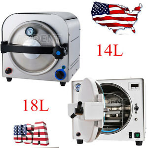 Us 14l 18 L Dental Steam Sterilizer Autoclave Medical Lab Equipment Stainless s
