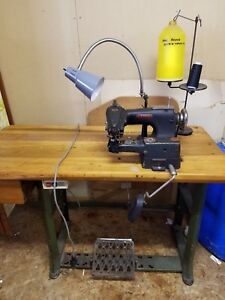 Lewis 150 16 Industrial Commercial Sewing Machine W Table Clutch Motor Lifter