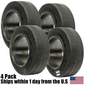 4pk 15x5x11 1 4 15x5x11 25 Solid Flat Proof Press on Smooth Forklift Tire 15511