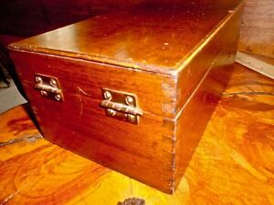 Antique Collectible Card Catalogue Veneered Wood Box Shaw Walker Type Construct