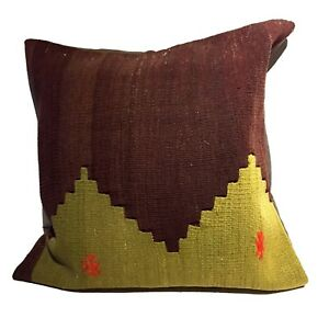Superb Custom Made Old Turkish Tribal Kilim Pillow 20 By 20