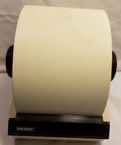 Large Steel Rolodex Model 5350 Never Used No Key Buff 3x5 Cards Included