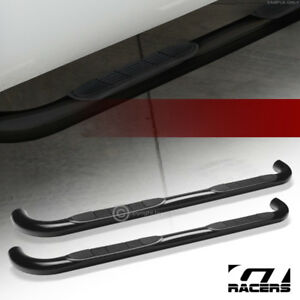 For 2004 2012 Chevy Colorado Gmc Canyon Extended 3 Side Step Nerf Bars Hd Black