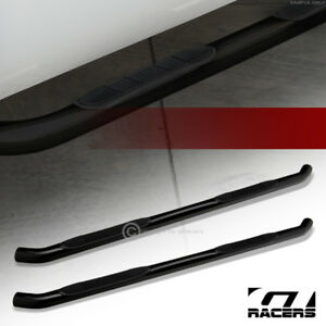 For 2007 2018 Silverado sierra Extended Cab 3 Side Step Nerf Bars Boards Hd Blk