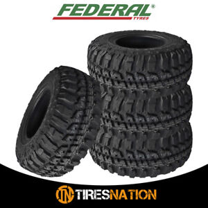 4 Federal Couragia M T 35x12 50r17 125q 10ply Off Road All Terrain Mud Tires