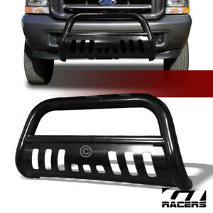 For 1999 2004 F250 F350 Excursion Black Bull Bar Brush Bumper Grill Grille Guard