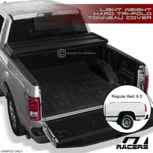 Tri fold Hard Tonneau Cover Lw 1988 2000 Chevy C k C10 Silverado 6 5 Short Bed