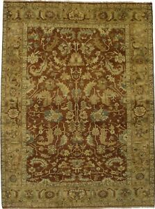 Fascinating Floral Design Chobi Oushak Indian Rug Oriental Home Carpet Sale 8x10